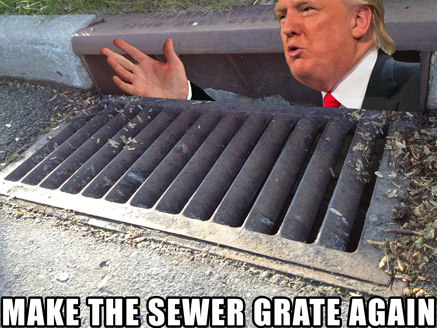 trump sewer grate again